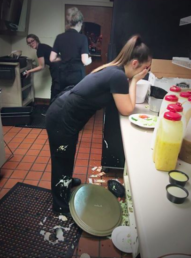 This server, who dropped her tray:
