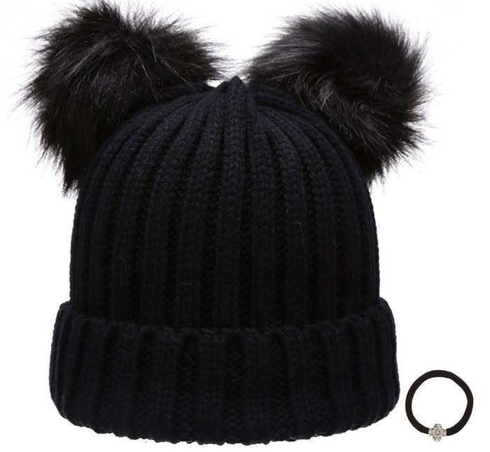 65a05a288e8f7 A double pom pom knit beanie that ll serve as inspiration to just hibernate  next year.