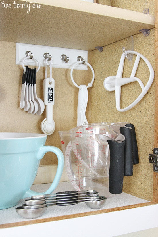 And putting everything in one place makes it quick and easy to grab what you need when it's time to bake! From Two Twenty One.