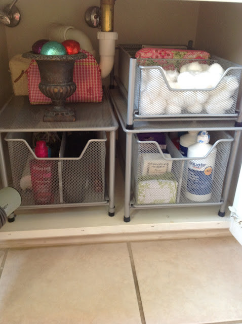Or maybe your pride and joy lies under your bathroom sink, which you keep sorted with the help of wire drawers.
