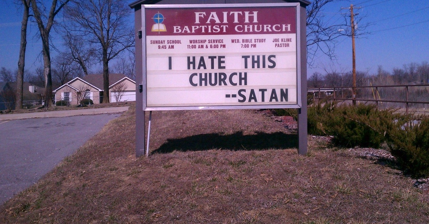 17 church signs that are so funny youll actually want to get up early on sunday