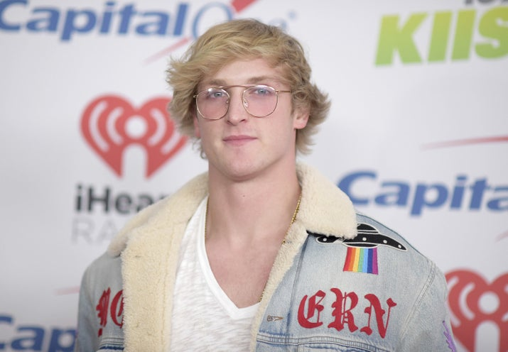 Logan Paul arrives at Jingle Ball on Dec. 1, 2017.