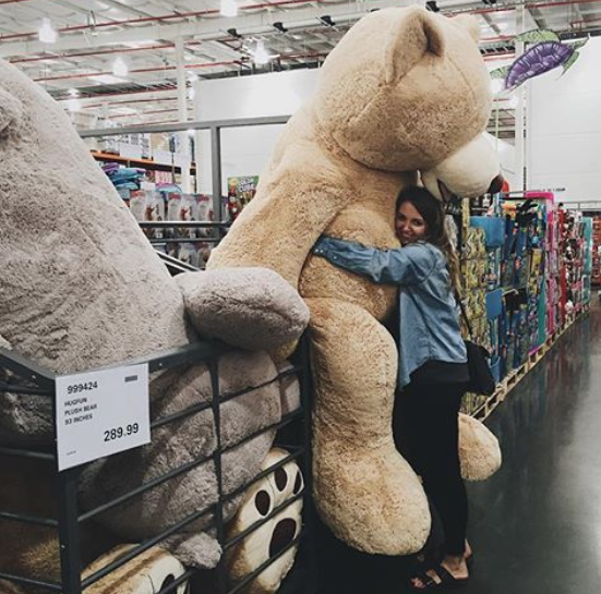 You're still pretty amused whenever the big, giant teddy bears get put on display again.
