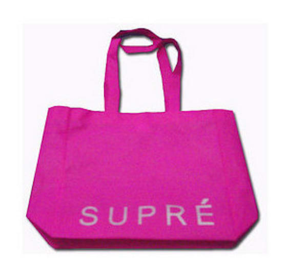 Most of the girls would carry their sports gear around in these Supre bags.