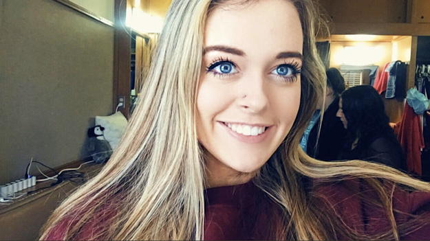 Diana Durkin is a 19-year-old from Houston. She's a sophomore at Texas Tech, but took this past semester off to help her family recover from Hurricane Harvey. She told BuzzFeed News she's REALLY excited to go back to school next week.