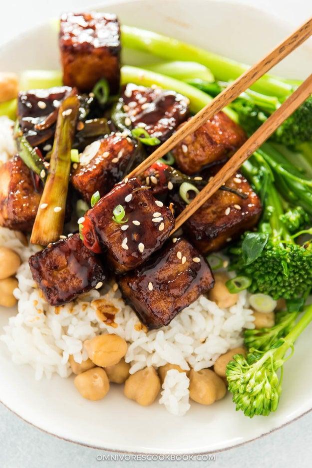 Baked General Tso Tofu