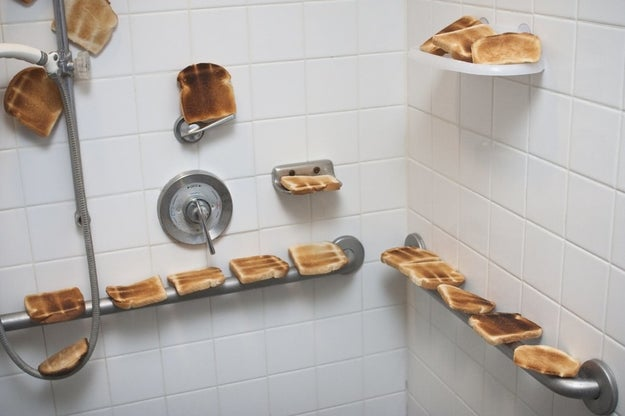 This husband who made his first dad joke when his pregnant wife said she wanted a toasty shower.