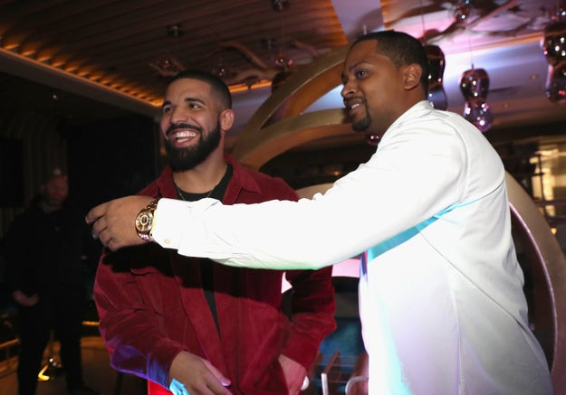Drake and Chubbs enjoyed Dwayne Wade's birthday party.