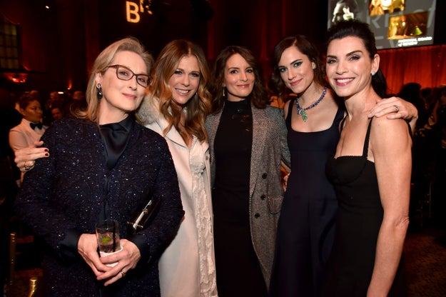 Meryl Streep, Rita Wilson, Tina Fey, Allison Williams, and Julianna Margulies took a photo at the National Board Of Review Annual Awards Gala.