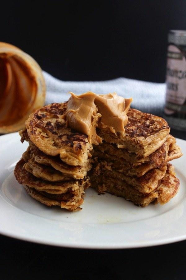 Flourless Chickpea Peanut Butter Pancakes