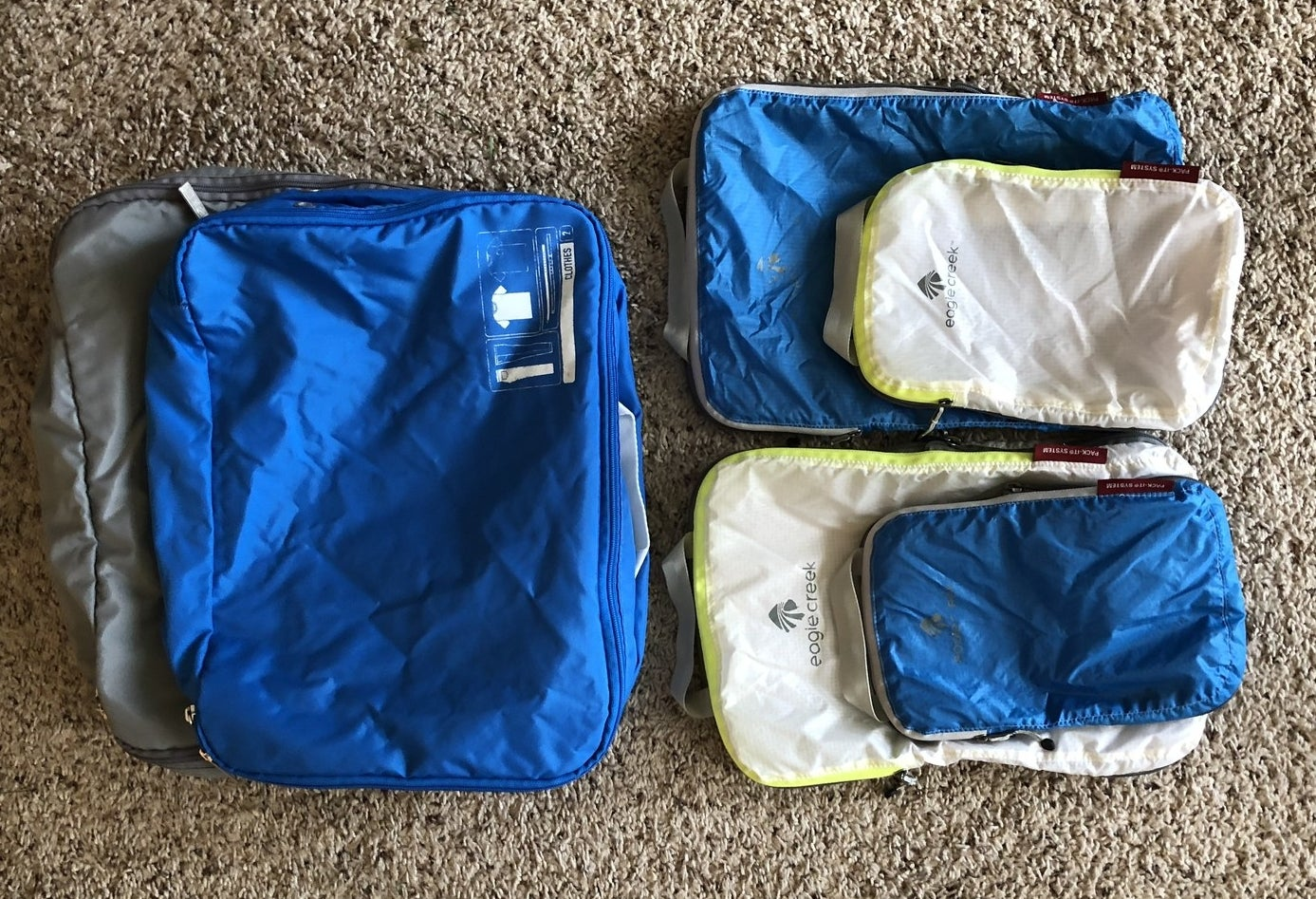 If there's one thing you should know about me, it's that I LOVE packing cubes. They are hands down my number one travel accessory, and I definitely wouldn't head out on a trip without them. I use two different kinds — Eagle Creek and Spacepak packing cubes — and they both let me pack way more than I would be able to without them by compressing all the air in between my clothes. Not only do they allow me to overpack like a champ, but they're also excellent for organizing your luggage (by separating types of clothing into different cubes, for instance).Get the Eagle Creek Pack-It two-piece set from Amazon for $28.95+ (available in five colors) and the Flight 001 Spacepak packing cube from Amazon for $46+ (available in four colors/patterns).