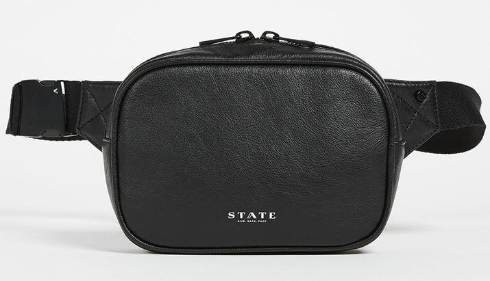 The bag is made from 100% leather, so it'll be durable enough to last you years of toting it around. It features a main zip compartment big enough to fit an iPhone Plus and an interior zip mesh pocket. Get it from State for $115.