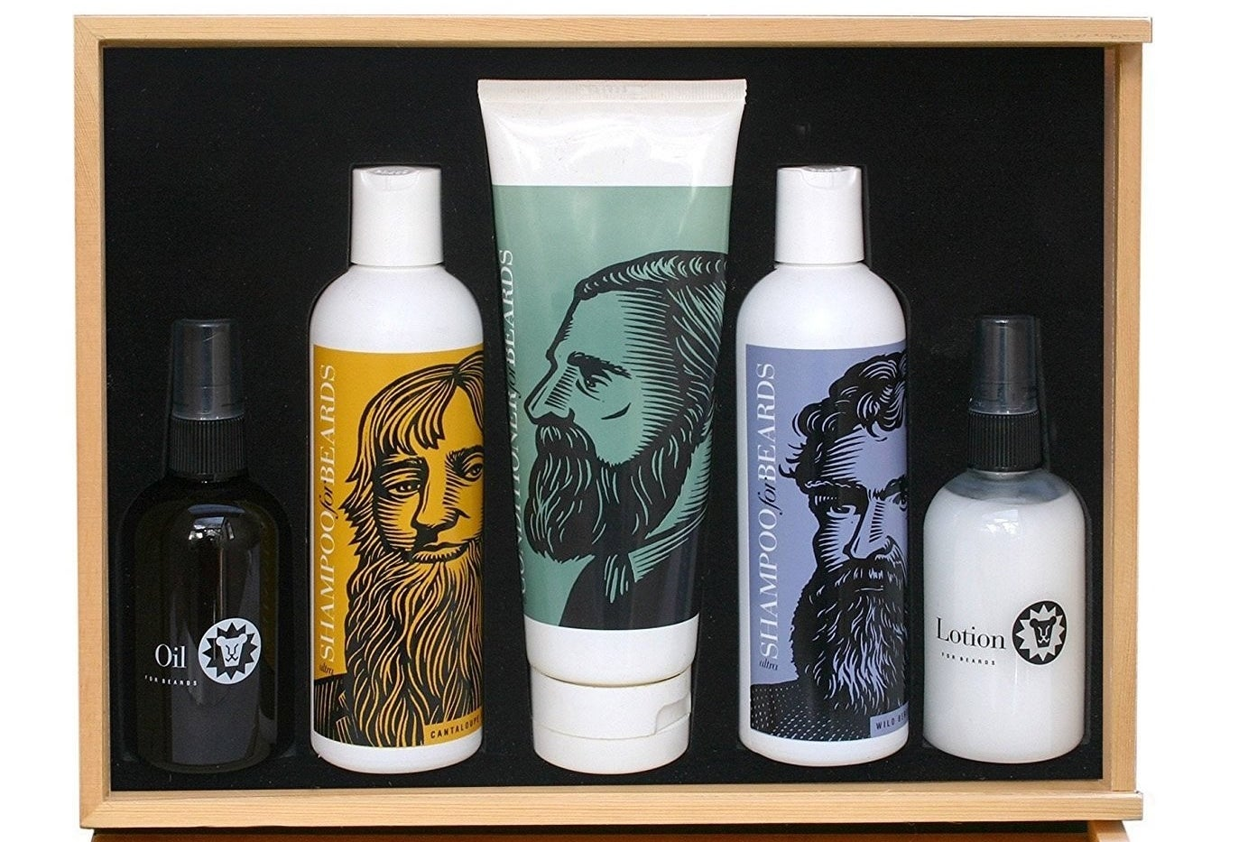 "The kit includes two beard shampoos, beard conditioner, beard lotion, and beard oil. Promising Review: ""This is an awesome kit! The shampoo and conditioner leaves your beard soft, manageable, and smelling good. The lotion and oil has kept my beard moisturized and healthy. I am a first time buyer, but this definitely will not be my last! I wouldn't hesitate to purchase again."" —Davis Bobby 