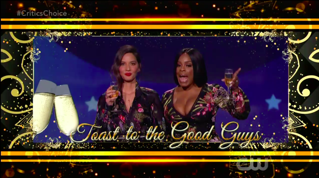 """""""Wow! See, that's what I'm talkin' about."""" Niecy responded, before going IN about the Globes. """"I want to say this quickly. Thank you to all of the men for speaking up at the Golden Globes and joining our sisters—"""""""