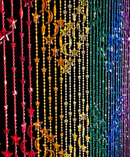 Door beads.