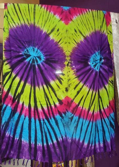 A tie dye sarong.