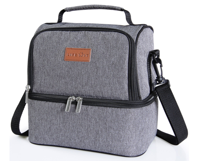"""Promising review: """"I am very glad I chose to get this lunchbox. The size is perfect and the overall quality is great. The lining in it is thicker than most and does a great job keeping my food cool with an ice pack. Zipper and straps have all held up well. It looks modern and professional. Overall this lunch box is perfect for my uses and would highly recommend."""" —JakeGet it from Amazon (available in four colors) or Walmart for $19.99+."""