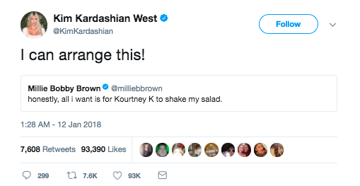 And, of course, when she made arrangements with the Kardashians...