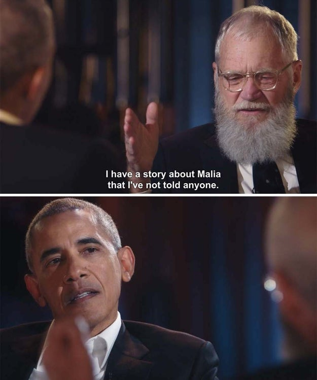 But one of the most charming parts of the premiere is actually a story from Letterman. He explained what happened when he first introduced himself to Malia.