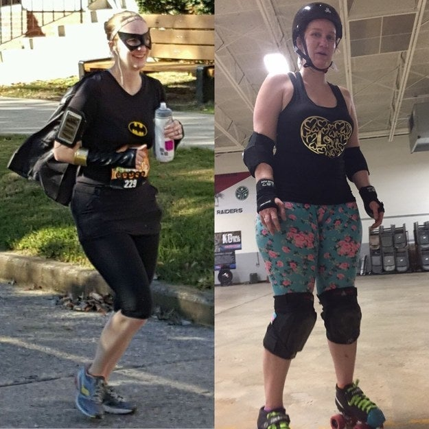 """After I moved to a new city, my depression exploded. I hated my body and myself, and I was so depressed, I could barely get out of bed. It took two years, but I finally got my meds sorted, gained 40 pounds, discovered roller derby and body positivity and I finally feel like a whole person again."" —dalyhenningm"