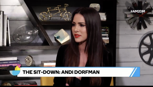 """Former """"Bachelorette"""" Andi Dorfman says she hopes the #TimesUp movement is able to change the culture of the hit show, which has been criticized for slut-shaming its female stars and contestants in the past."""