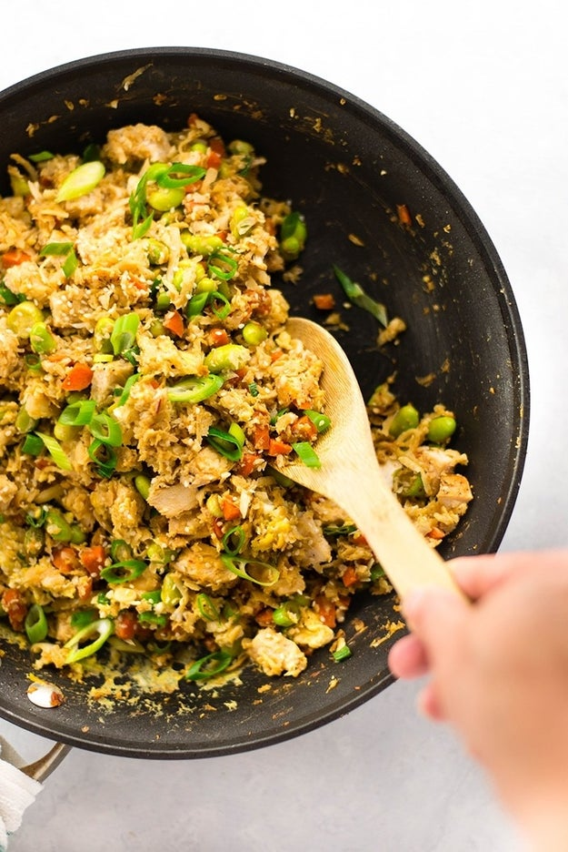 25-Minute Chicken Cauliflower Fried Rice