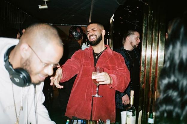 Drake partied.