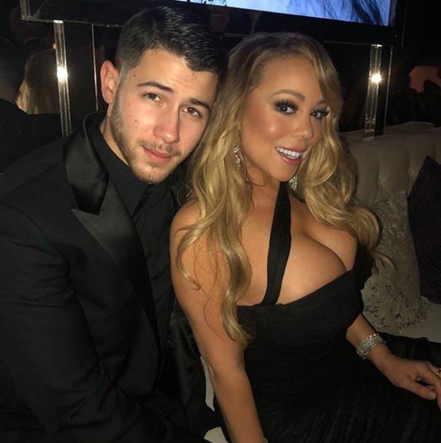Nick Jonas hung out with Mariah Carey.
