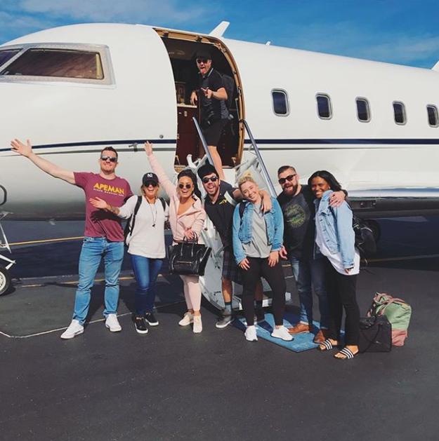 Demi Lovato flew private.