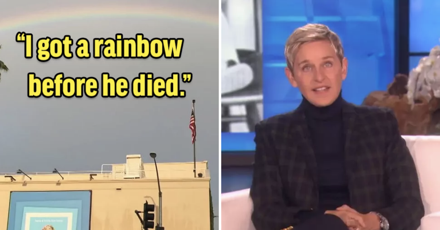Ellen Revealed Her Father Just Passed Away And Shared A Story That'll Give You The Goosebumps