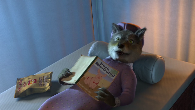 When Prince Charming finds the Big Bad Wolf alone with some...bedside reading.