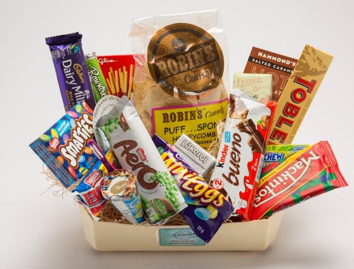 The international box with English chocolate
