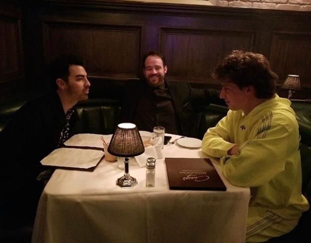 Joe Jonas and Charlie Puth had a staring contest.