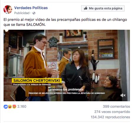 """De acuerdo con la sección de Facebook """"¿Por qué veo este anuncio?"""", la publicidad está dirigida a personas interesadas en """"temas políticos y sociales"""" que tienen entre 21 y 60 años y que viven en la Ciudad de México."""