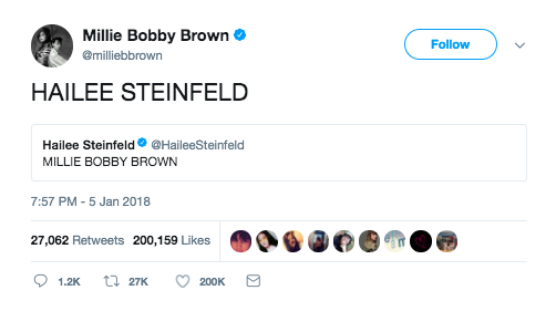 When she had this simple yet very meaningful interaction with Hailee Steinfeld: