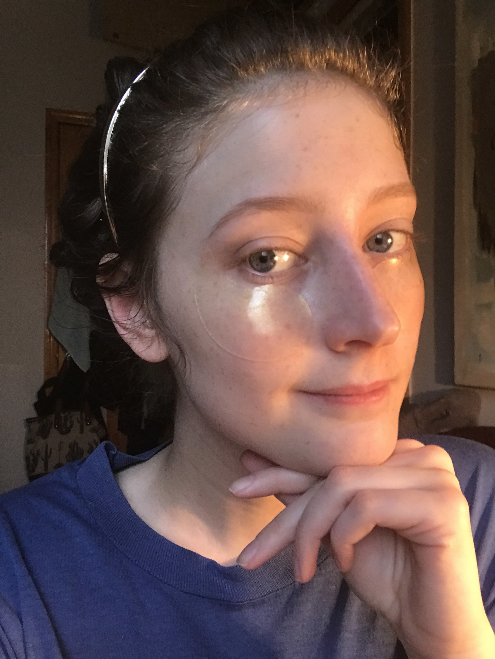 person with the nearly invisible undereye patches under their eyes