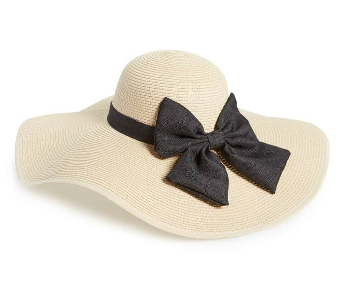 89556ec4 A classic floppy hat with bow for your next tropical vacay.