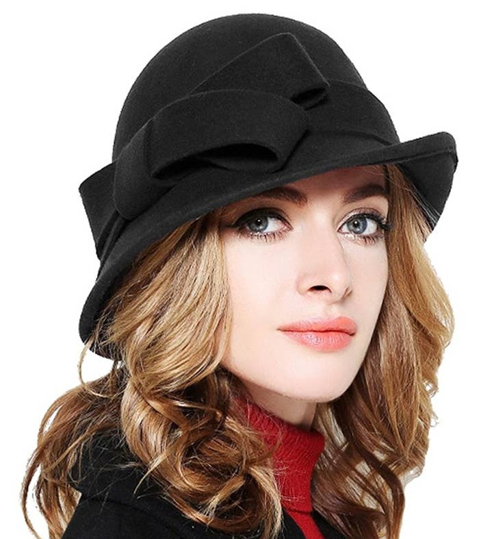 da17417b A vintage-style cloche hat for people who wear gloves even when it's not  cold out.