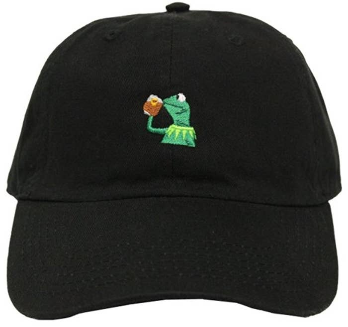 A Kermit baseball cap to lower over your face while spilling some tea. 9d1b88f4c33