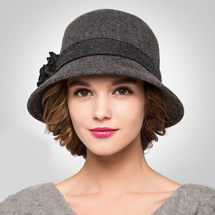 f0861f7e A retro felt hat with a floral trim you can tell people you got from a time  machine.