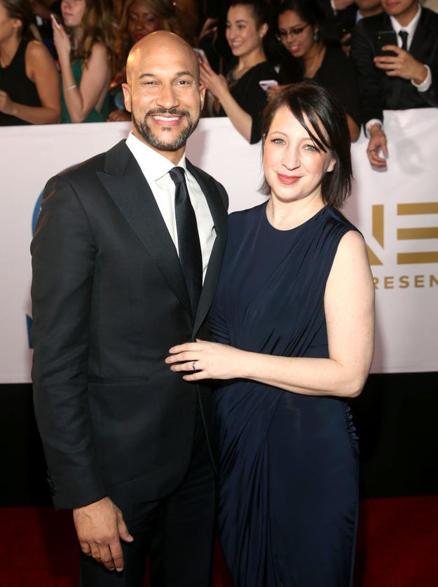 Keegan-Michael Key (L) and Elisa Pugliese
