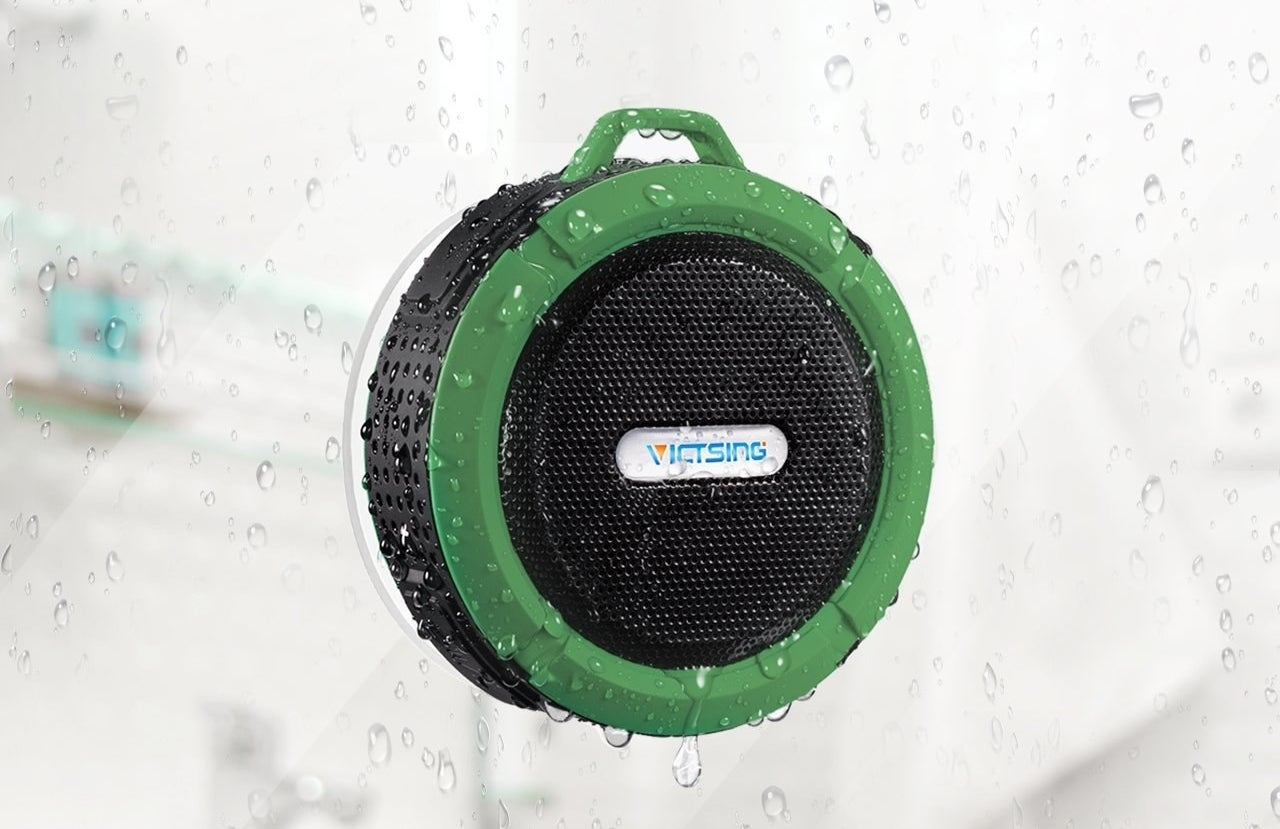 "Oh, it's also wireless, has a suction cup, and the charge holds for up to six hours!Promising review: ""I was sold the second I dropped this speaker in the river, fished it out, and it was still playing music. I have also dropped it in the shower, brushed the soap off, and stuck it back on the wall. It gets loud, easily connects to Bluetooth, and is waterproof. I cannot imagine anything better than this portable speaker."" —ViciouslikemePrice: $21.59 (available in 4 colors)"