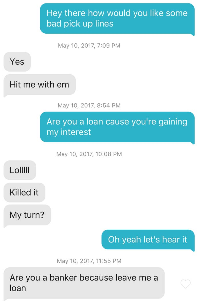 this user whose pickup line was turned against them