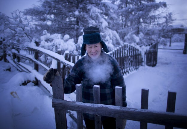 """Oymykon is considered the coldest """"permanently settled"""" place in the world. And actually? The coldest it's ever gotten here is -96 degrees."""