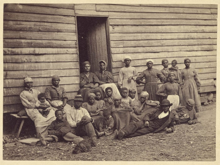 Former slaves on Mr. Toller's Farm in Virginia, 1862. Photograph by Alexander Gardner and James F. Gibson.