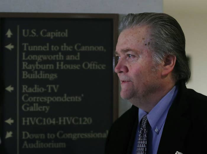Bannon on Capitol Hill on Tuesday.