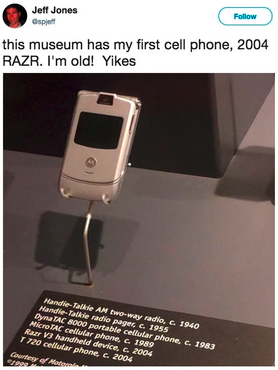 The Razr is a MUSEUM artifact: