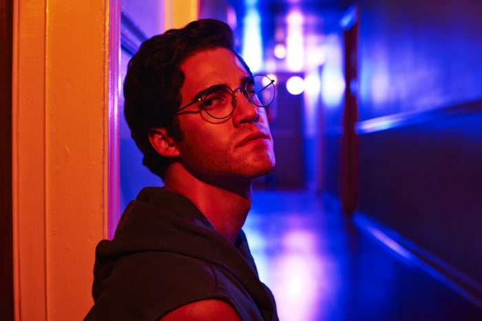 Darren Criss as Andrew Cunanan in The Assassination of Gianni Versace: American Crime Story.