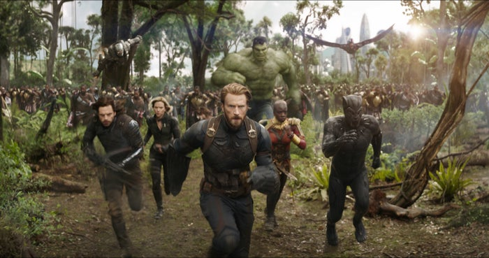 "Described by Disney as ""an unprecedented cinematic journey ten years in the making and spanning the entire Marvel Cinematic Universe,"" Infinity War will follow the Avengers in an attempt to defeat the villain Thanos before he literally destroys the entire universe. Ready the tissues, this is gonna be rough."