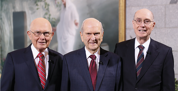 Nelson has chosen Dallin H. Oaks, 85, (left), and Henry B. Eyring, 84, (right), to serve as his First and Second Counselors.